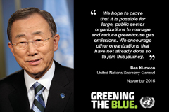 United Nations reports on its 2014 greenhouse gas emissions